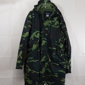 Clench camouflage all weather long coat 232